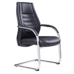 Boston PU Back Black Executive Seating Chair Sled Base