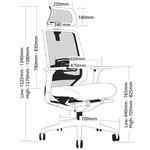 Evita Mesh Back Modern Executive Chair - Black
