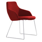 Oscar Sled Base Fabric Chair