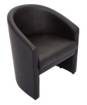 Cosmo Single Seater Tub Chair - Black PU