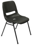 P100 Heavy Duty Polypropylene Stackable Chair - Black Poly
