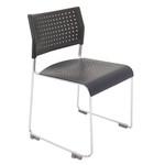 Wimbledon Polypropylene Sled Base Visitor / Training / Conference Chair - Black