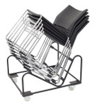 Zola PVC Sled Base Visitor/Lunchroom Chair - Black