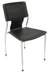 Fernando Visitor Chair - Black PU Leather