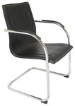 Comfo Cantilever Visitor Chair - Black PU Leather