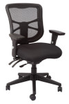 Dammesh Heavy Duty Mesh Back Chair - Black