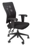 AM100 Medium Mesh Back Operator Chair - Black