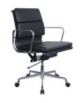 PU900 Medium Back Meeting/Executive Chair - Black PU Leather