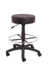 Data Stool - Drafting / Counter Height - Black PU