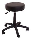 Data Stool - Desk Height - Black PU