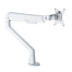 Elevate Gas Operated Single Monitor Arm - White