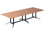 Cyclone Boardroom Table - Dual Post - 2 Piece Top - Double Stage