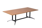 Cyclone Boardroom Table - Dual Post - 1 Piece Top - Single Stage