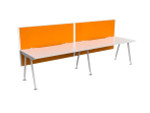 Cosmo 2 Person Workstation with Fabric Screen - Single Sided Desks
