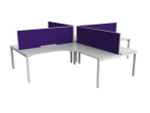 Axle 4 Person Office Workstation 90 Degree Desks - Plus Layout