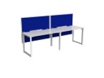 Smith 2 Person Office Desk - Single Sided Workstations with Fabric Screen