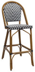 Amalfi Counter Height Bar Chair - Black