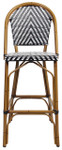 Amalfi Counter Height Bar Chair - Black