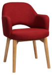 Albury Arm Chair 4 Leg Timber Legs
