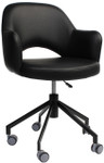 Albury Visitor / Reception Arm Chair on Wheels