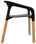 Rio Stackable Arm Chair - Black