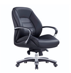 Magnum Italian Black Leather Executive Office Chair