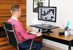 Arise Compulator Sit Stand Desk Riser with Clamp
