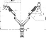 Sabre Single/ Double Monitor Arm