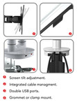 Cutlass Single/ Double Monitor Arm