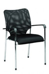 Paco 4 Leg Conference / Visitor Chair - Black