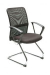 Stat Modern Mesh Visitor Chair - Black