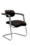 Exact Modern Visitor / Conference Chair - Black