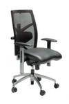 Exact Black Executive Office Chair - Mesh Back Leather Seat