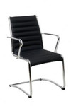 Lean Executive Training / Visitor Chair - Black PU
