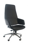 Tombeau Executive PU Leather Chair - Black