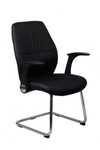 Modena Leather Visitor Chair - Black PU