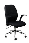 Modena Modern Office Chair - Black PU