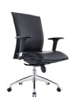 Allegro Mid Back PU Office Chair - Black