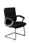 Stratum Visitor Chair - Black Synthetic Leather