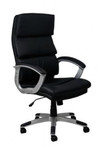 Stratum Executive Office Chair - Black Synthetic Leather - Mid / High Back