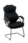 Darth Executive Visitor Chair - Black Synthetic Leather