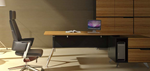 Urban Nature Contemporary Corner Executive Office Desk - Timber / Veneer