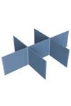 Flat Floor Based Fabric Acoustic Screen - Noise Reduction / Quiet Zones