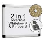 Gemini Reversible Whiteboard & Cork Pinboard