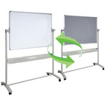 Mobile Whiteboard and Pinboard Combo on Wheels