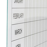 Magnetic Glass Year Planner Board