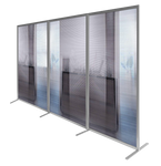 Modular Wave Screen - Temporary Room Dividers - Curved / Straight