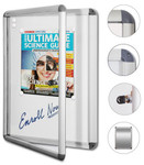 Neo Magnetic Notice Board Cases - Hinged Door