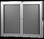 Lockable Hinged Door Pin-able Notice Boards