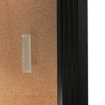Sliding Door Lockable Notice / Bulletin Board